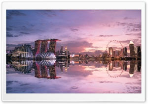 Beautiful Singapore Reflection Ultra HD Wallpaper for 4K UHD Widescreen desktop, tablet & smartphone