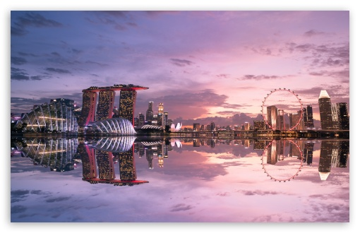 Download Beautiful Singapore Reflection HD Wallpaper