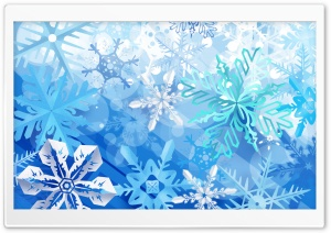 Beautiful Snowflakes New Year HD Wide Wallpaper for Widescreen