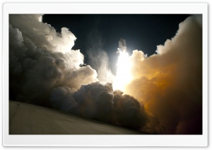 Beautiful Space Shuttle Launch HD Wide Wallpaper for Widescreen