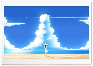 Beautiful Summer Day Illustration HD Wide Wallpaper for Widescreen