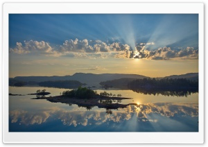 Beautiful Sunrays Reflection HD Wide Wallpaper for Widescreen