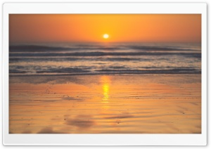 Beautiful Sunrise Beach HD Wide Wallpaper for Widescreen