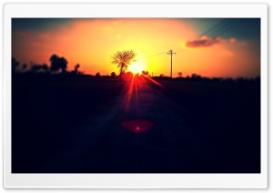 Beautiful Sunset in Jhang HD Wide Wallpaper for Widescreen