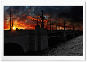 Beautiful Sunset In Saint Petersburg HD Wide Wallpaper for Widescreen