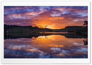 Beautiful Sunset Lake HD Wide Wallpaper for Widescreen