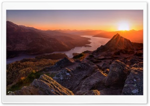 Beautiful Sunset, Scotland HD Wide Wallpaper for 4K UHD Widescreen desktop & smartphone