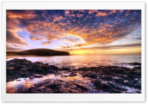 Beautiful Sunset Seascape HD Wide Wallpaper for Widescreen