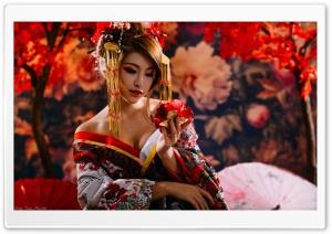 Beautiful Traditional Japanese Woman Ultra HD Wallpaper for 4K UHD Widescreen desktop, tablet & smartphone