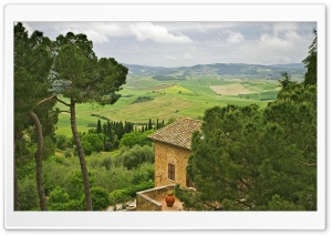 Beautiful View From The Town Of Pienza In Tuscany Italy HD Wide Wallpaper for 4K UHD Widescreen desktop & smartphone