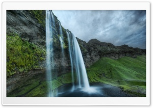 Beautiful Waterfall In Iceland HD Wide Wallpaper for 4K UHD Widescreen desktop & smartphone