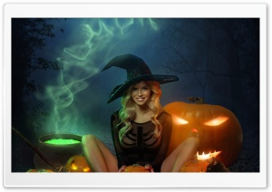 Beautiful Witch Halloween Ultra HD Wallpaper for 4K UHD Widescreen desktop, tablet & smartphone