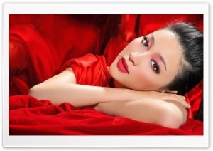 Beautiful Woman in Red HD Wide Wallpaper for Widescreen