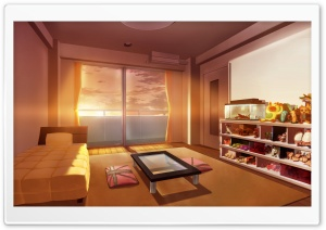 Bedroom Anime Art HD Wide Wallpaper for Widescreen