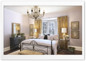 Bedroom With Chandelier HD Wide Wallpaper for Widescreen