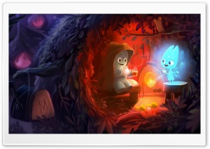 Bedtime Stories Illustration Ultra HD Wallpaper for 4K UHD Widescreen desktop, tablet & smartphone