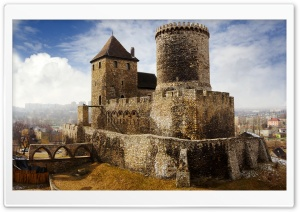Bedzin Castle, Poland HD Wide Wallpaper for Widescreen