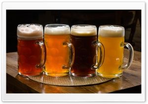 Beer Pints HD Wide Wallpaper for Widescreen