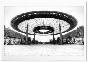 Beijing Architecture Black and White HD Wide Wallpaper for Widescreen