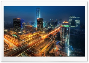 Beijing At Night, China HD Wide Wallpaper for Widescreen