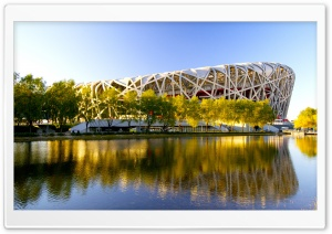 Beijing Birds Nest Stadium 3 HD Wide Wallpaper for 4K UHD Widescreen desktop & smartphone