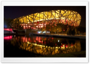 Beijing Birds Nest Stadium 4 HD Wide Wallpaper for 4K UHD Widescreen desktop & smartphone