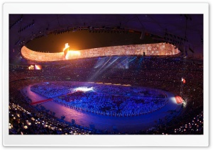 Beijing Olympic Games Opening HD Wide Wallpaper for Widescreen