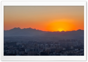 Beijing Sunset HD Wide Wallpaper for 4K UHD Widescreen desktop & smartphone