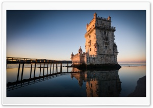 Belem Tower In Lisbon, Portugal HD Wide Wallpaper for 4K UHD Widescreen desktop & smartphone