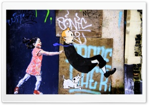 Belgium   Brussels   Street Art HD Wide Wallpaper for Widescreen