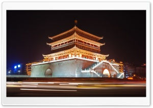 Bell Tower Of Xian, China HD Wide Wallpaper for 4K UHD Widescreen desktop & smartphone
