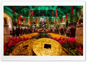 Bellagio Gardens  New Year HD Wide Wallpaper for Widescreen