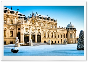 Belvedere Palace, Vienna, Austria, Winter HD Wide Wallpaper for Widescreen