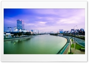 Ben Nghe waterway, HCM city Ultra HD Wallpaper for 4K UHD Widescreen desktop, tablet & smartphone