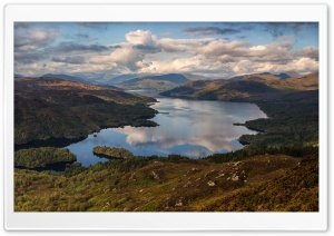 Ben Venue mountain and Loch Katrine, The Trossachs, Scotland HD Wide Wallpaper for 4K UHD Widescreen desktop & smartphone