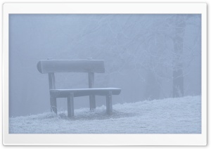 Bench In Fog HD Wide Wallpaper for Widescreen