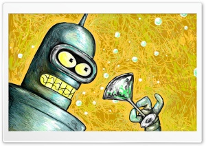 Bender Futurama HD Wide Wallpaper for 4K UHD Widescreen desktop & smartphone