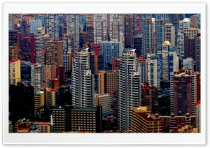 Benidorm Buildings HD Wide Wallpaper for Widescreen