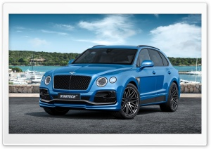 Bentley Bentayga Blue HD Wide Wallpaper for Widescreen