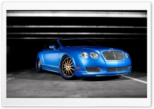 Bentley Continental GT Blue HD Wide Wallpaper for Widescreen
