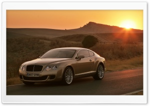 Bentley Continental GT On Road HD Wide Wallpaper for Widescreen