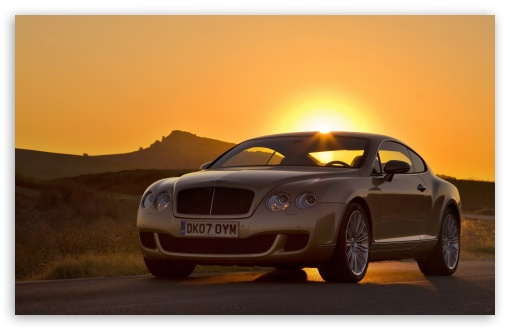 Bentley Continental GT Sunset HD wallpaper for Wide 16:10 5:3 Widescreen WHXGA WQXGA WUXGA WXGA WGA ; HD 16:9 High Definition WQHD QWXGA 1080p 900p 720p QHD nHD ; Standard 4:3 Fullscreen UXGA XGA SVGA ; iPad 1/2/Mini ; Mobile 4:3 5:3 - UXGA XGA SVGA WGA ;