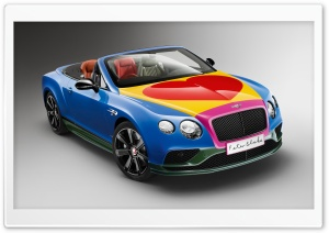 Bentley Continental GT V8 S convertible Pop Art by Peter Blake 2016 Ultra HD Wallpaper for 4K UHD Widescreen desktop, tablet & smartphone