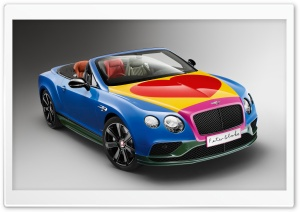 Bentley GT Pop-Art 2016 HD Wide Wallpaper for 4K UHD Widescreen desktop & smartphone