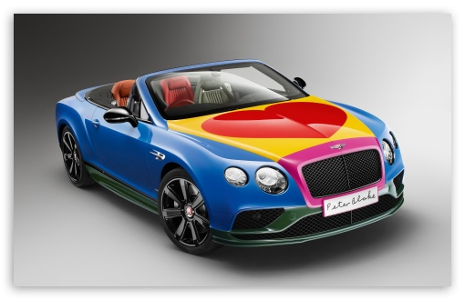 Download Bentley GT Pop-Art 2016 HD Wallpaper