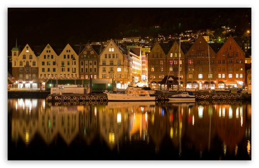 Bergen Norway Night ❤ 4K UHD Wallpaper for Wide 16:10 5:3 Widescreen WHXGA WQXGA WUXGA WXGA WGA ; 4K UHD 16:9 Ultra High Definition 2160p 1440p 1080p 900p 720p ; Mobile 5:3 16:9 - WGA 2160p 1440p 1080p 900p 720p ;