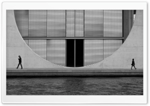 Berlin Architecture Black And White HD Wide Wallpaper for Widescreen
