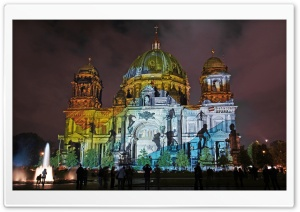 Berlin Cathedral At Night HD Wide Wallpaper for Widescreen