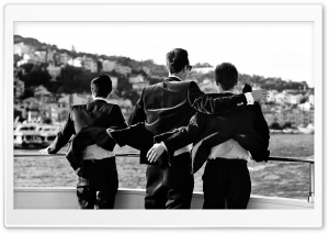 Best Friends Black And White HD Wide Wallpaper for Widescreen