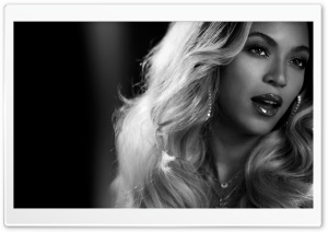 Beyonce Black And White HD Wide Wallpaper for Widescreen